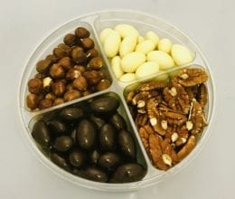 Kariba Chocolate Tray with Milk & White Chocolate Covered Nuts