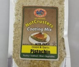 NutCrusters Pistachio Onion Garlic Panko and Flax