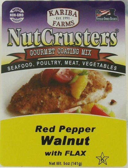 Red Pepper Walnut NutCrusters Label Close-Up