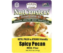 Nutcrusters Spicy Pecan Paleo Atkins Flax Front Label
